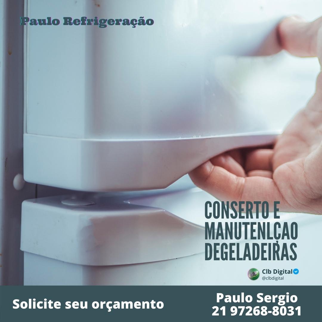 Paulo Refrigeração, assistência técnica de conserto de ar condicionado, maquina de lavar geladeira