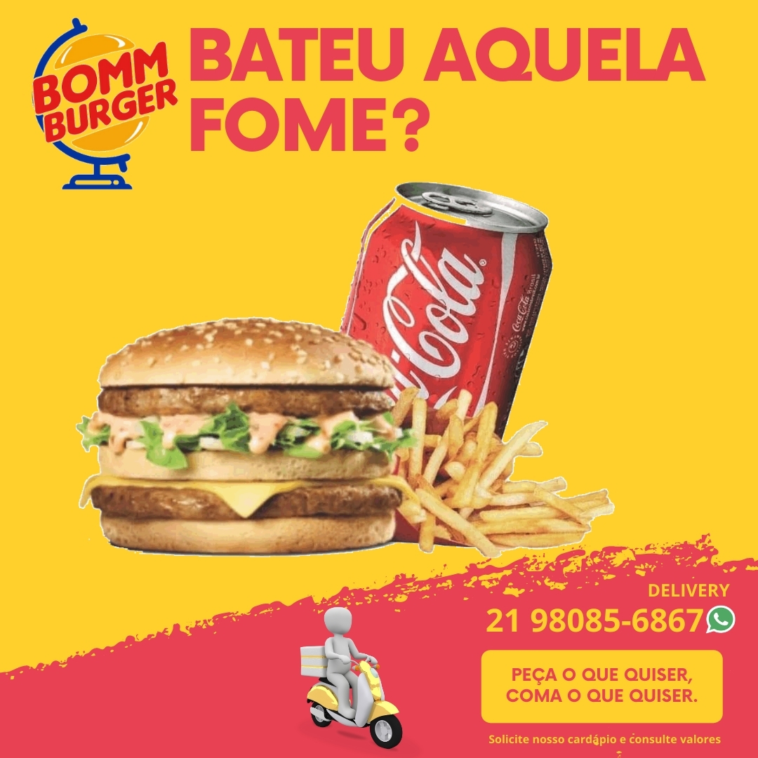Fast Food , Food Truck, Delivery, Bomm Burger no Recreio dos Bandeirantes
