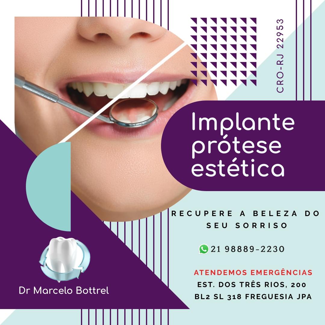 Dentista, consultório odontológico na Freguesia Dr Marcelo Bottrel