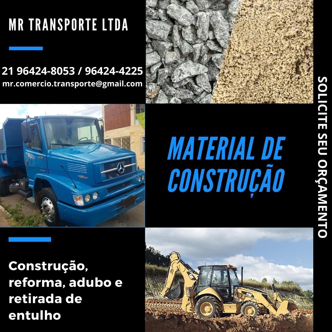 MR Transporte LTDA, Material de construção, reformas e retirada de entulhos em Vargem Grande.