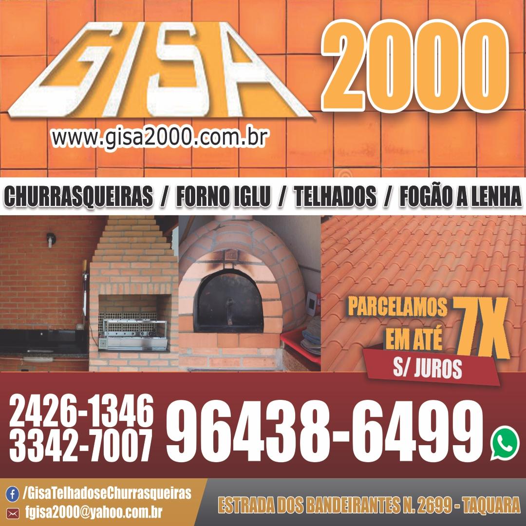 Churrasqueiras, forno iglu, telhados, fogão a lenha, Gisa 2000, Barra, Recreio, Taquara, Rj