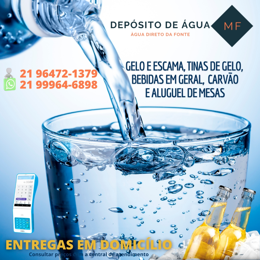 Depósito de água MF, bebidas e aluguel de meses