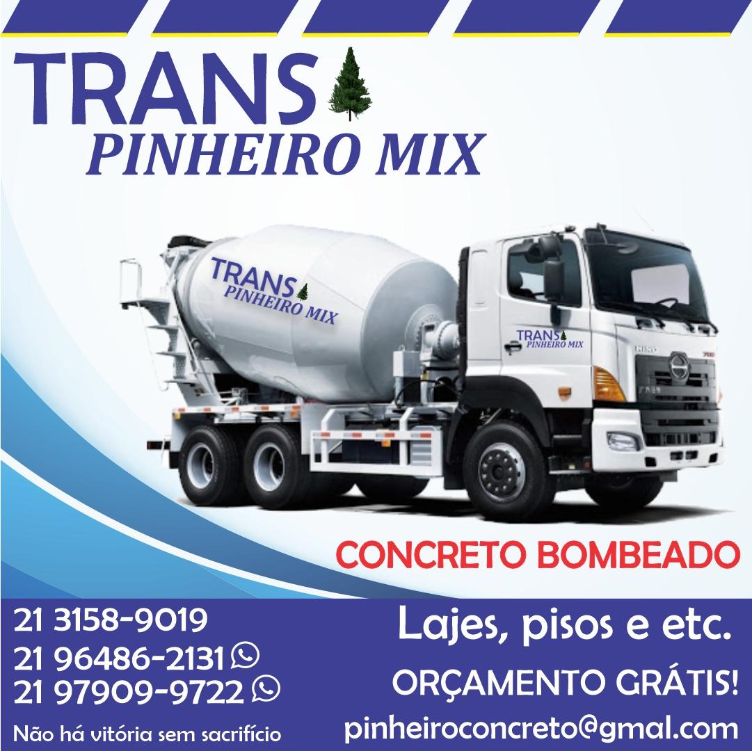 Trans Pinheiro Mix, Concreto bombeado, construção, lajes e obras Rio de Janeiro