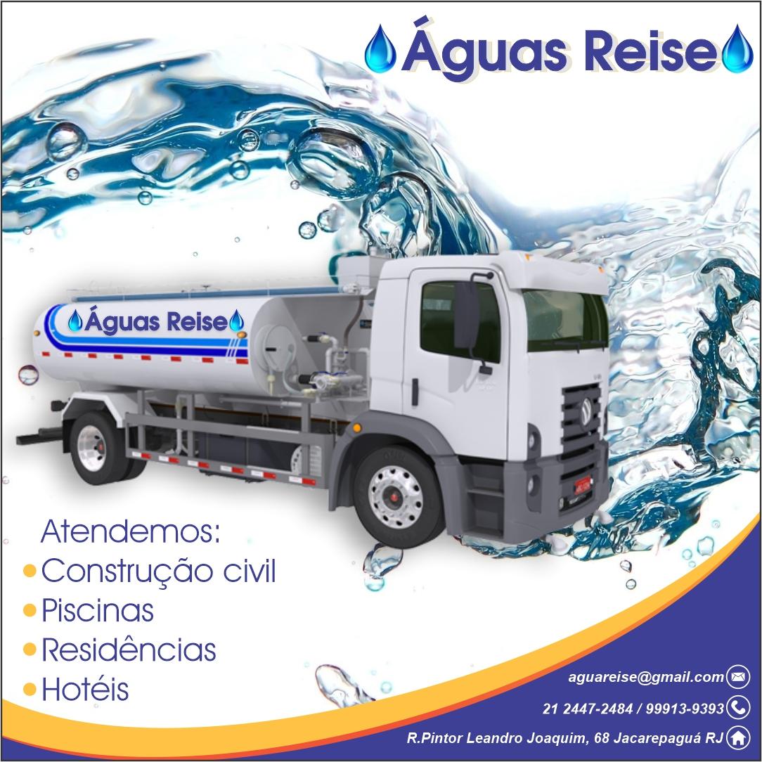 Águas Reise, Caminhão Pipa em Jacarepaguá, transporte de água potável Rio de Janeiro