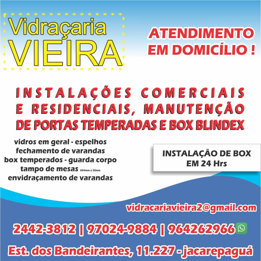 Vidraçaria e serralheria Vieira Vidros, Box, Espelhos e cortinas de vidros