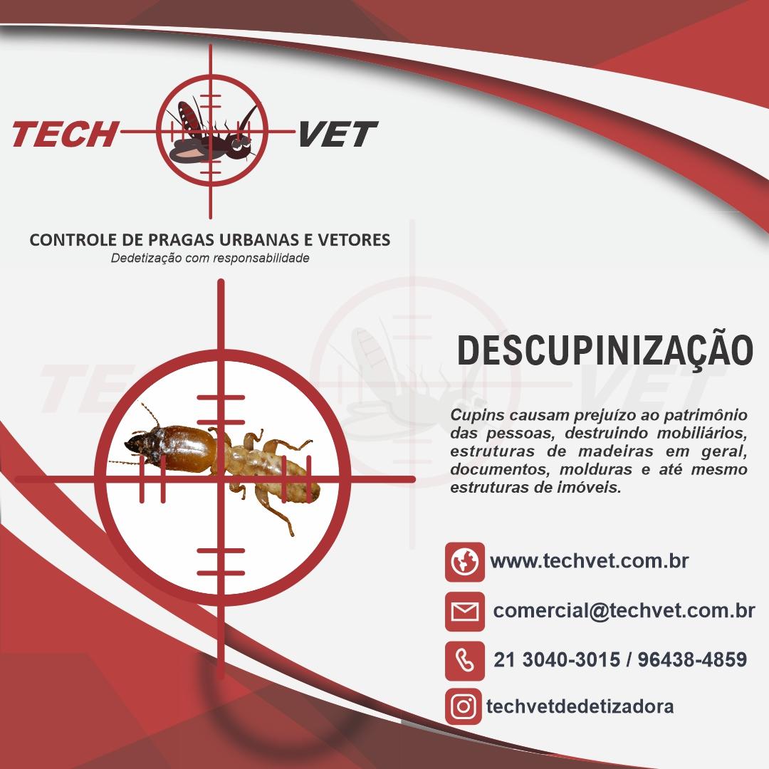 Techvet dedetizadora, dedetização contra ratos, baratas, cupins, pulgas e carrapatos.