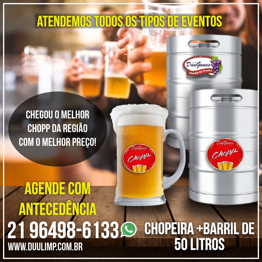 CHOPEIRA COMPLETA + BARRIL 50LT, CHOPP PARA EVENTOS
