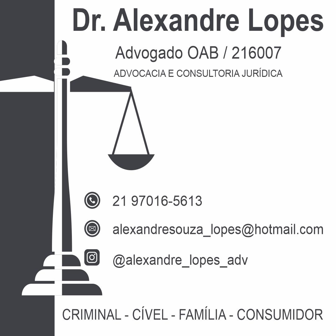 Advogado, Dr Alexandre Lopes